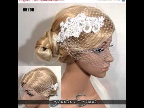 DIY Handmade Wedding bridal Tulle Birdcage Veil   hairstyle. Headbands of  Love ce7272e1e68