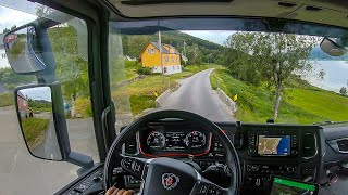 POV Driving Scania S520 - Along the Vanylvsfjorden