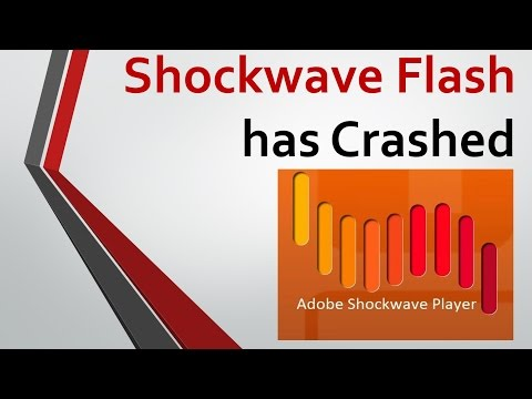 Shockwave Flash Has Crashed. Как исправить?