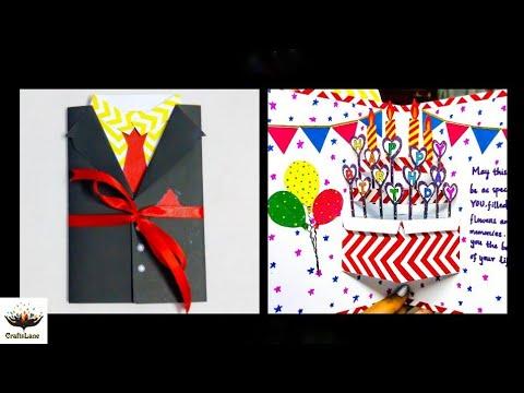 How To Make Beautiful Birthday Pop Up Card | DIY Suit-Tuxedo Greeting Card | CraftsLane