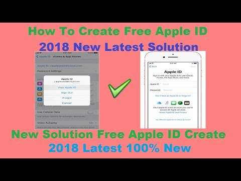 How To Create Free Apple ID 2018 New Latest Solution - YouTube