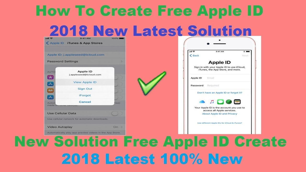 How To Create Free Apple ID 2018 New Latest Solution