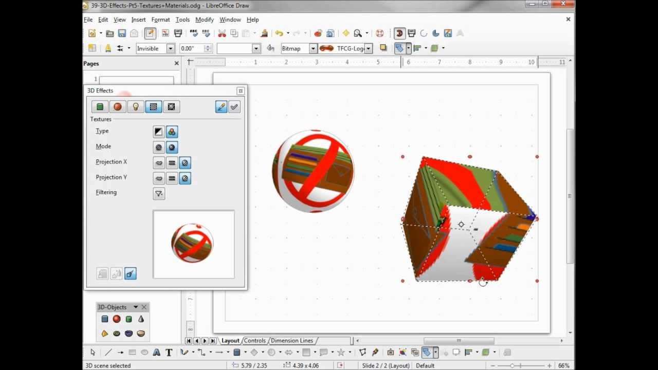 Libreoffice Draw 39 3d Effects Part 5 Youtube