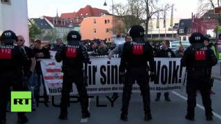 Germany: Clashes erupt as far-right 'Thugida' march on Hitler's birthday