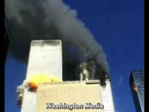 Security Camera facing WTC Twin Towers on 9/11 - YouTube