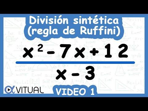 División Sintética O Regla De Ruffini Ejemplo 1 De 3 | Álgebra - Vitual