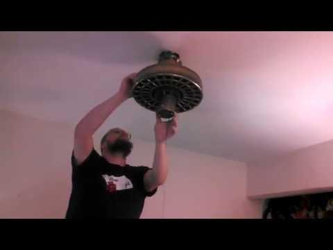 Removing an Island Fans Plantation Fans Ceiling Fan, Installing a Fanimation Air Shadow (unedited)