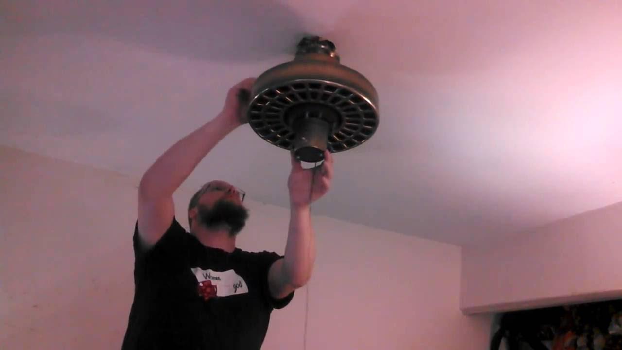 Removing An Island Fans Plantation Ceiling Fan Installing A Fanimation Air Shadow Unedited