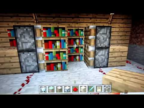 Comment faire une biblioth que minecraft tuto 8 doovi - Comment faire une table d enchantement minecraft ...