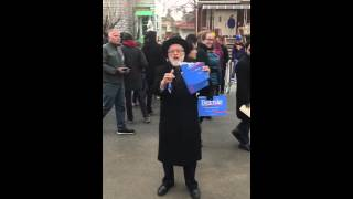 """""""Bernie is an antisemite"""". Republican district leader (AD48) tears up Bernie poster"""