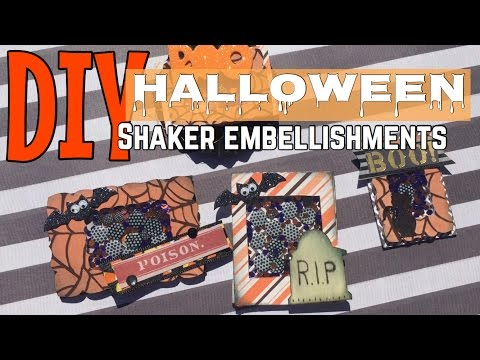 DIY SHAKER EMBELLISHMENTS  / / HALLOWEEN| I'm A Cool Mom