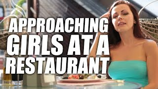 BEST Way To Approach A Girl at a Restaurant (INFIELD) | How To Pick Up Girls