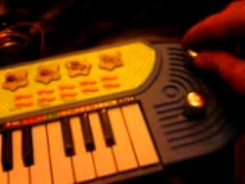 circuit bent  toy keyboard    argos little blue