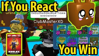 OMG Mayrushart PHMitten Deeterplays If You React, You Win XD -Roblox Gift Card Giveaway-Information