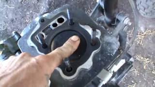 Доробка Поршня Отворами (Дірками) в мотоциклі Рейсер 200кб