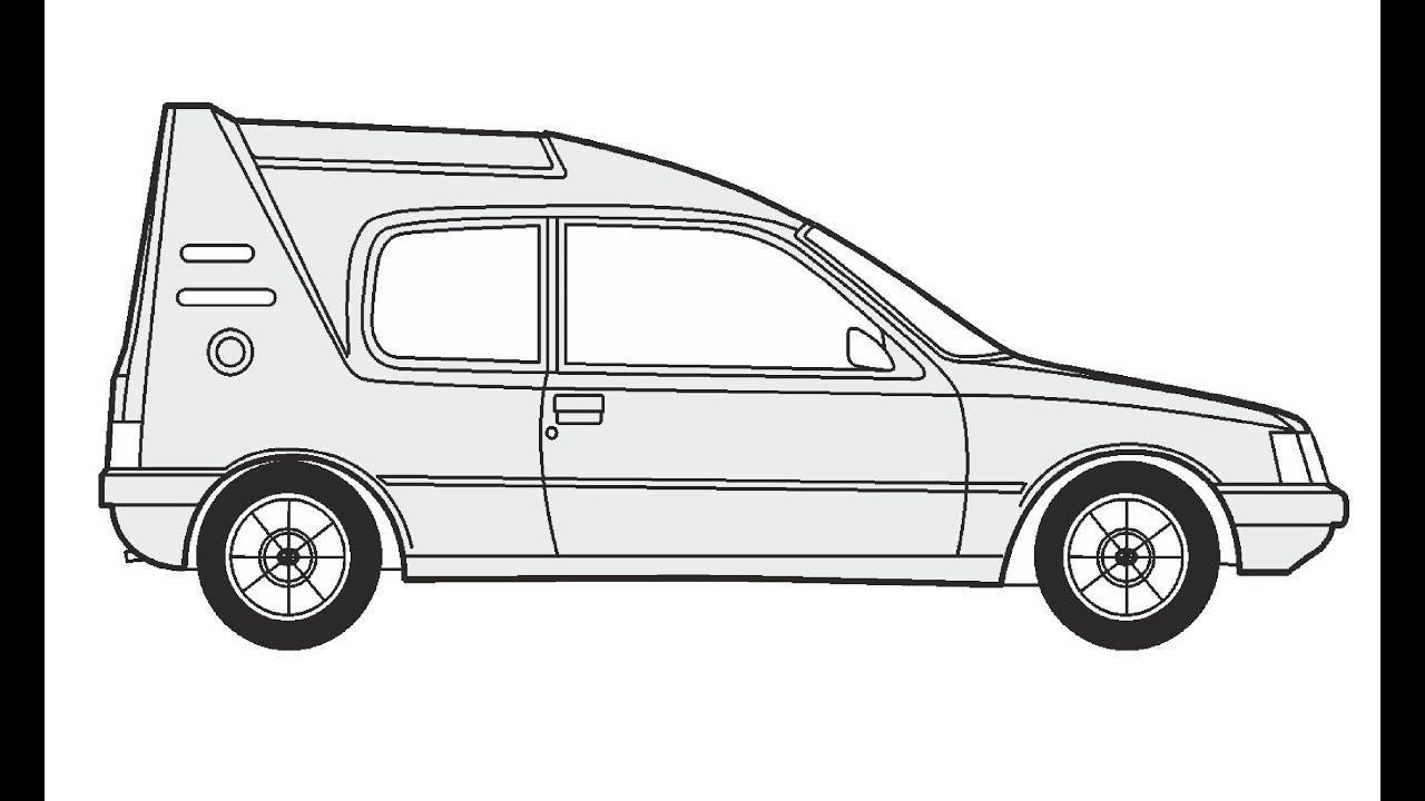 How to Draw a Peugeot 205 Multi / Как нарисовать Peugeot