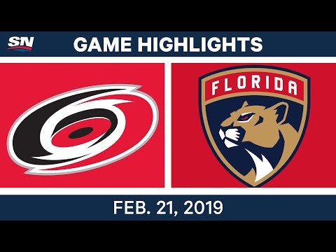 NHL Highlights | Hurricanes vs. Panthers - Feb 21, 2019