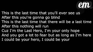 XV- The Last Hero (Feat. Patrick Stump) (Zero Heroes) LYRICS!