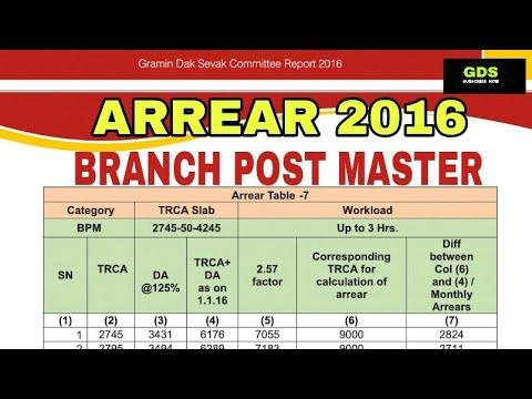 BPM ARREAR 2016-17. MINIMUM Rs 56,480