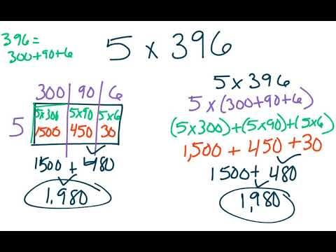 4th Grade Gomath 26 Multiplying Using Expanded Form Youtube