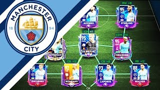FULL MAN CITY SPECIAL CARDS SQUAD BUILDER ! FIFA MOBILE 19