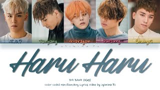 BIGBANG (빅뱅) - 'HARU HARU (하루하루)' Lyrics (Color Coded_Han_Ro…