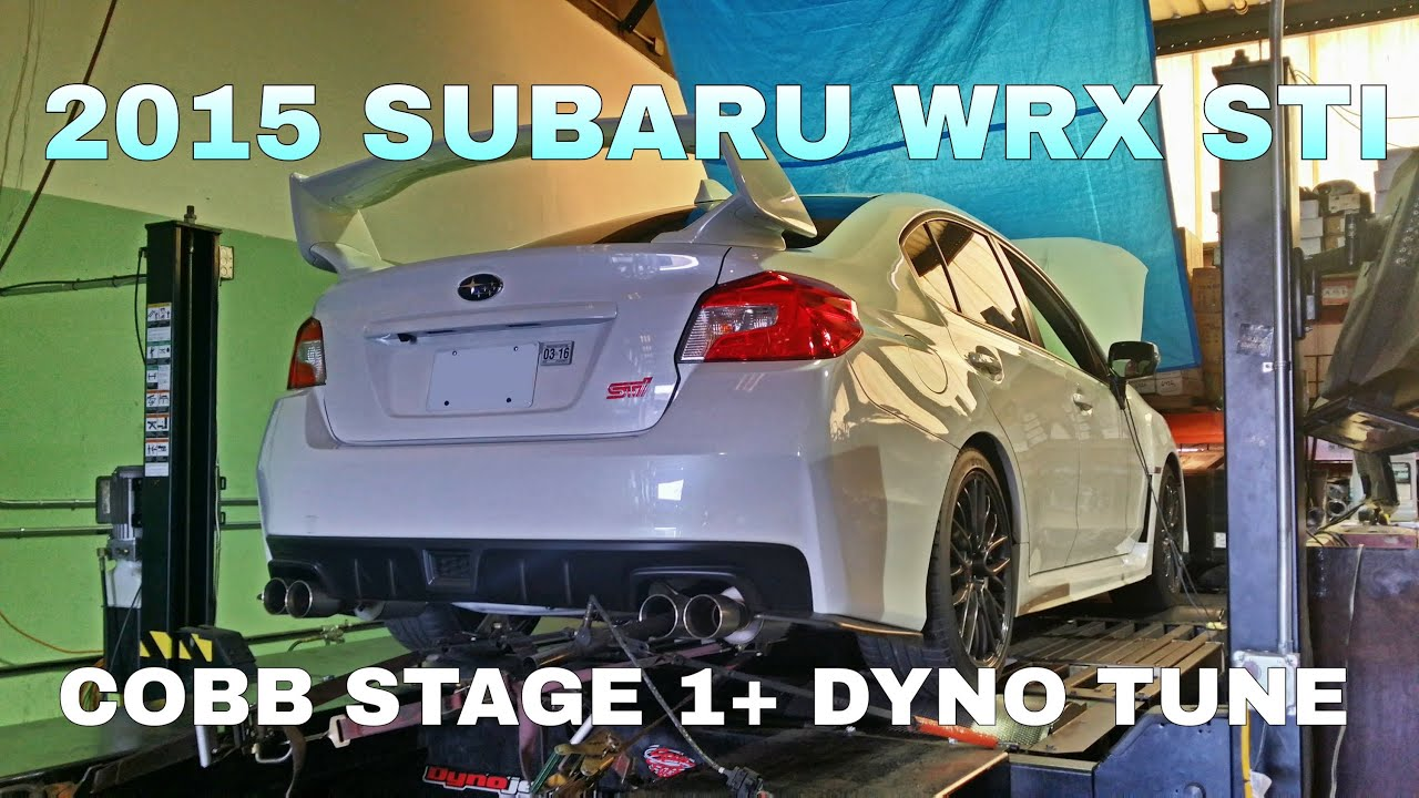 2015 Subaru WRX STI - Cobb Stage 1+ Dyno Tune - OCTurboJoe