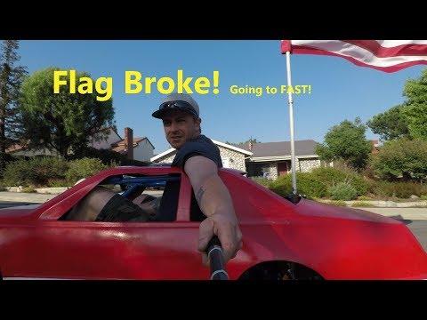 mini car go kart body flag broke