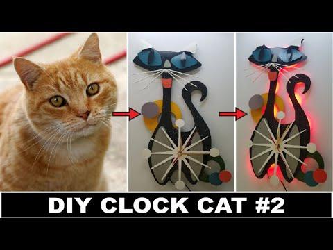 Creative DIY Wall Clock Ideas with metal| clock diy| diy crafts| cheap home decor| DIY CLOCK CAT#2