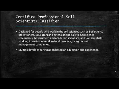 Certifications - American Society of Agronomy