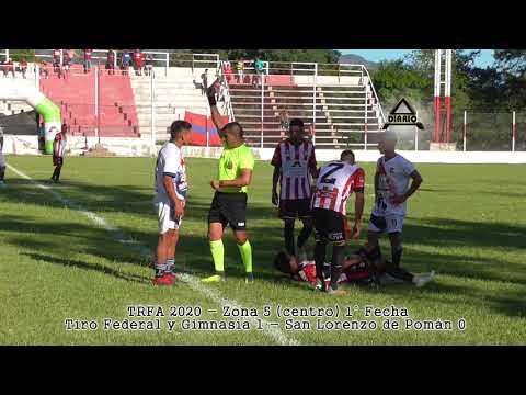 Tiro Federal y Gimnasia 1 - San Lorenzo 0  (TRFA 2020) - fecha 1 (zona 5 centro)