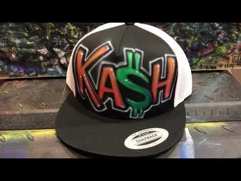 Airbrushed Hat by Phancy - KA$H
