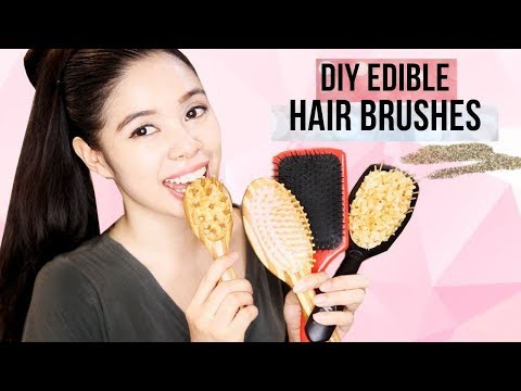 I TRIED MAKING DIY EDIBLE HAIR BRUSHES- Beautyklove