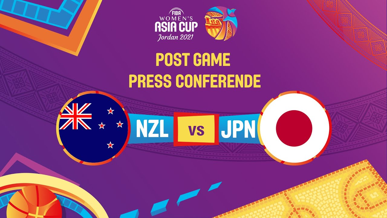 New Zealand v Japan - Press Conference   FIBA Women's Asia Cup 2021 - Division A