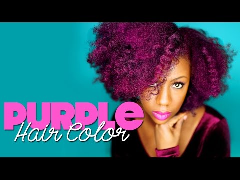Purple Hair Dye on Natural Hair: Manic Panic Ultra Violet & Hot Hot Pink