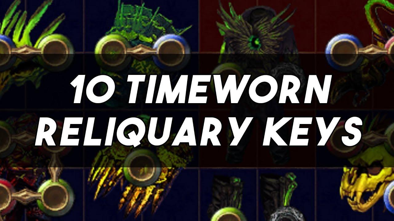 10 Timeworn Reliquary Keys Gamble Delve League
