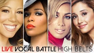 Live Vocal Battle   Light Sopranos: Mariah Carey, Michelle Williams, Leona Lewis, Ariana Grande