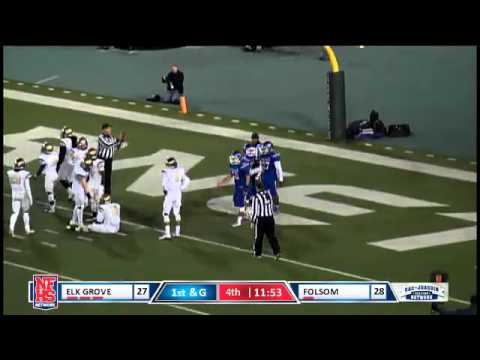 Folsom 6 yd td run flipping into the endzone by Roger Neal