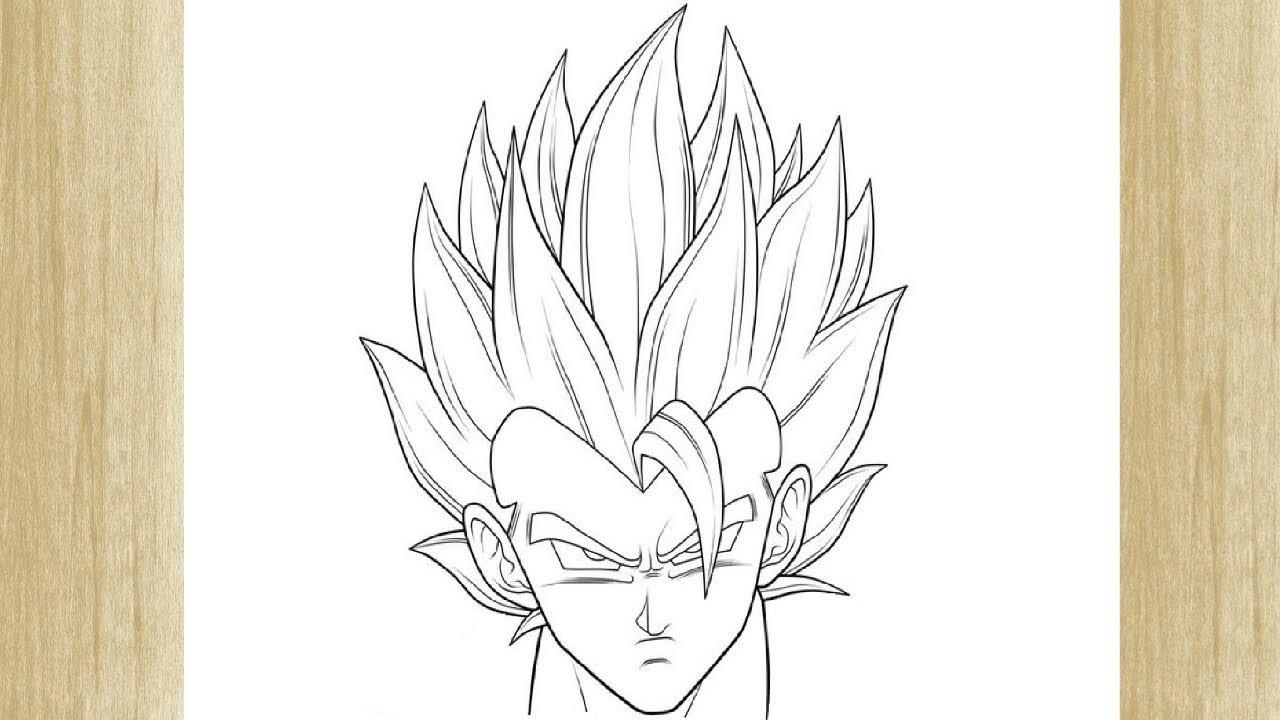 How To Draw Gogeta Face From Dragon Ball Z Como Desenhar O Gogeta De Dragon Ball Z
