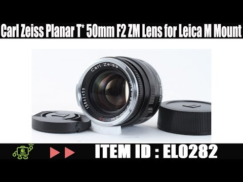 Carl Zeiss Planar T* 50mm F2 ZM Lens for Leica M Mount