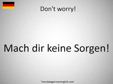 DonT Worry Deutsch