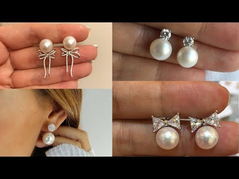Pearls Studs For Girls || Latest Pearls Earring Designs