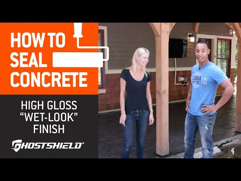 """How To Seal Concrete: High-Gloss """"Wet Look"""" Decorative Sealer"""