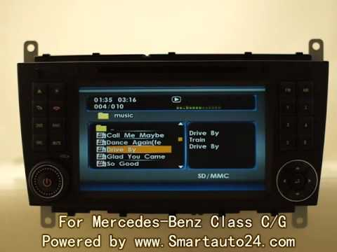 Mercedes benz class c g clc k s dvd player with sat navi for Mercedes benz navigation free download