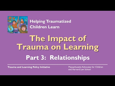 Video On Impacts Of Trauma On Learning >> The Problem Impact Trauma Sensitive Schools