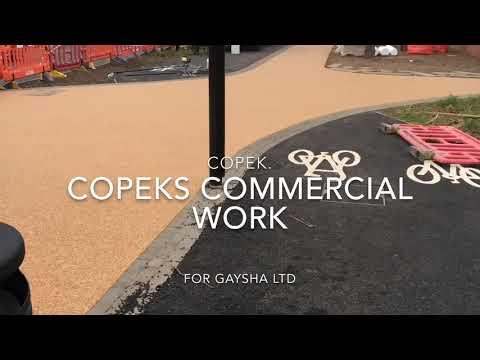 Copek resin bound driveway installations