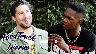 Israel Adesanya | Food Truck Diaries | BELOW THE BELT with Brendan Schaub
