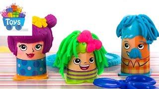 Сумасшедшие прически Play-Doh|. Crazy Guts.Видео для детей(Настя распаковывает игрушки