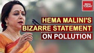 Hema Malini Makes Bizarre Statement On Pollution, States 'No Pollution In Mathura'