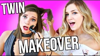 Twin Sister Makeover CHALLENGE